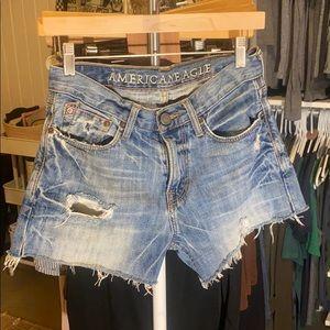 American Eagle cutoff shorts.